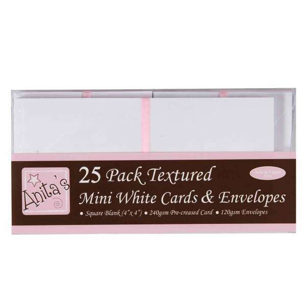 """Sada blahopřání obálky a karty čtvercové malé, na cedulky, kartičky, jmenovky 4x4"""" Anita´s"""