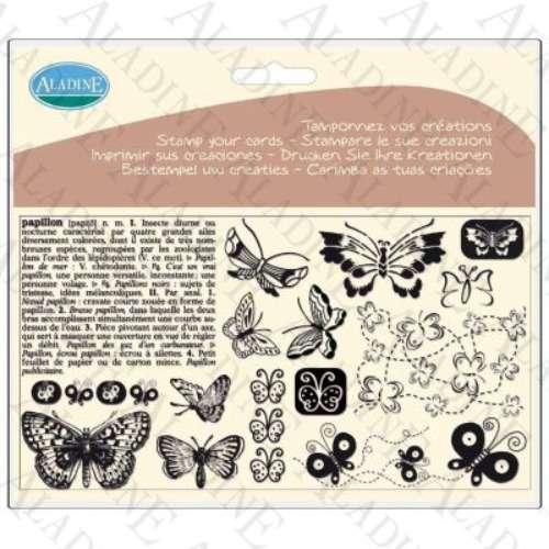 Novinka 2012! Sada gelových razítek od francozské firmy Aladine MOTÝLCI