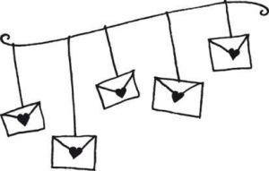 Aladine Dřevěné razítko D Svatební pošta