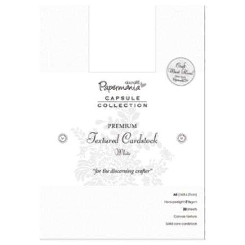 Sada čtvrtek na scrapbook A5 PREMIUM Textured Cardstock White 20 ks Papermania