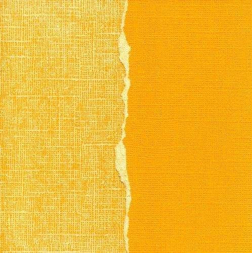 Čtvrtka na scrapbooking Color Core, specielní scrapbooková čtvtka s odlišným jádrem než jaký je na povrchu, rozměr 30,5 x 30,5 cm Sunflower ColorCore Cardstock
