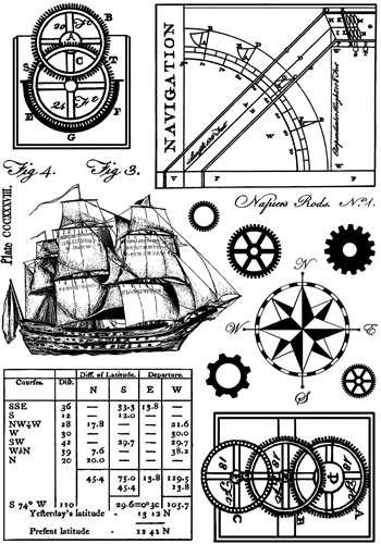 CI-294_Cling gumové razítko Námořnictví - plavba, lod, navigace Crafty Individuals