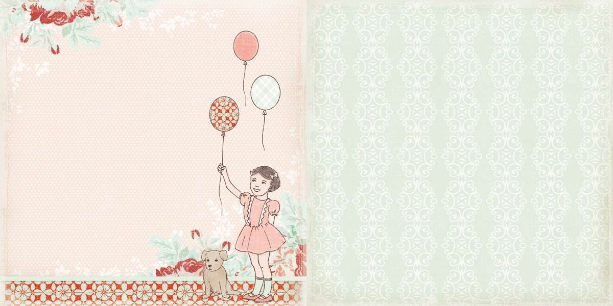 Čtvrtka na scrapbook Big Dreams z kolekce Sweet Childhood od The ScrapCake