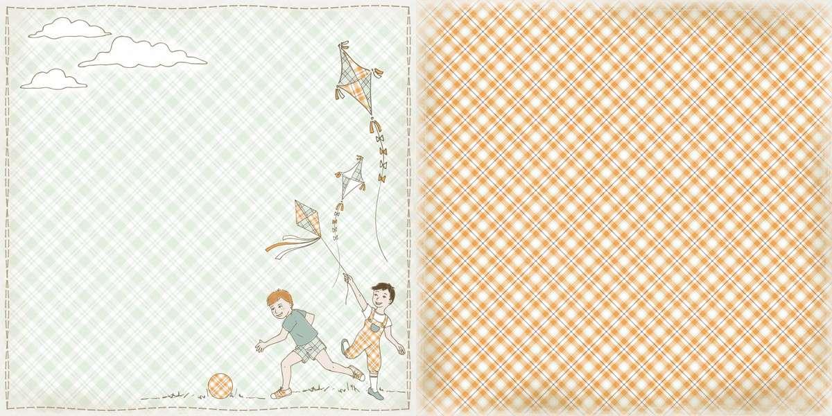 Čtvrtka na scrapbook Come'N'Play z kolekce Sweet Childhood od The ScrapCake