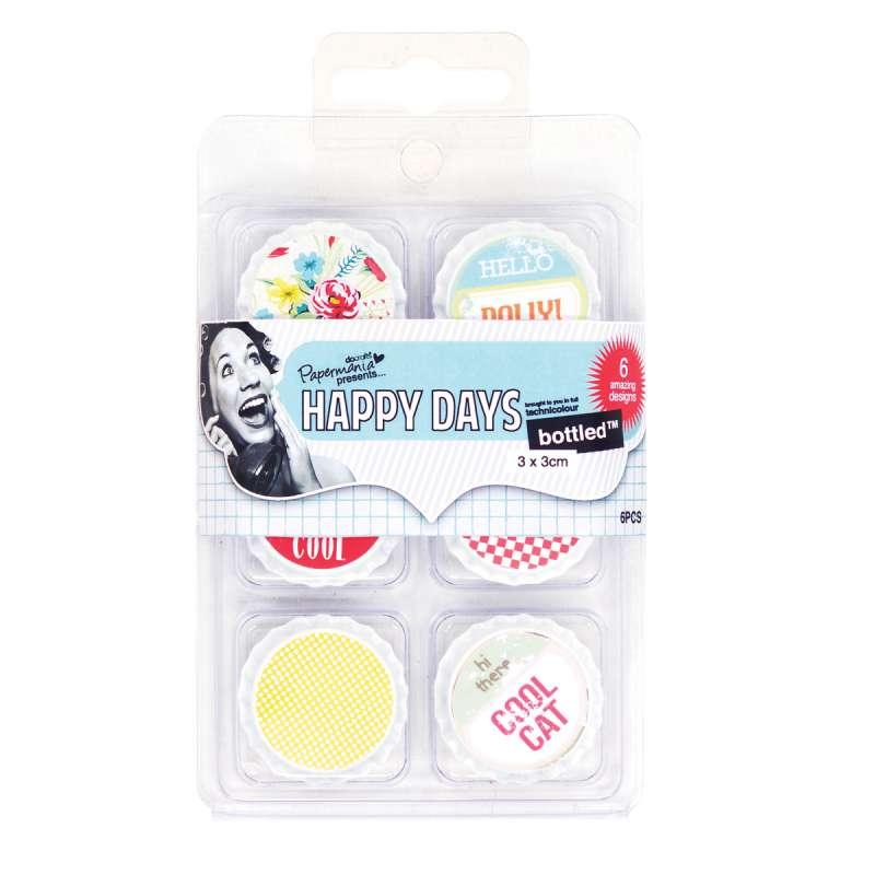 Dekorační plechová - zátky - víčka Happy Days - Hello Dolly Design Objectives