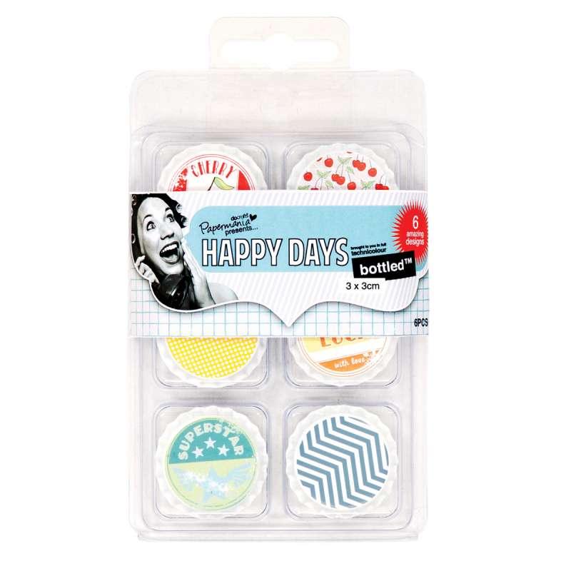 Dekorační plechová - zátky - víčka Happy Days - Třešňový koláč Design Objectives
