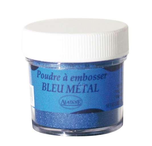 Embosovací prášek, 30 ml, modrý metalický Aladine