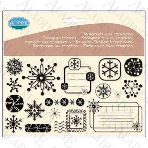 Novinka 2012! Sada gelových razítek od francozské firmy Aladine Sněhové vločky