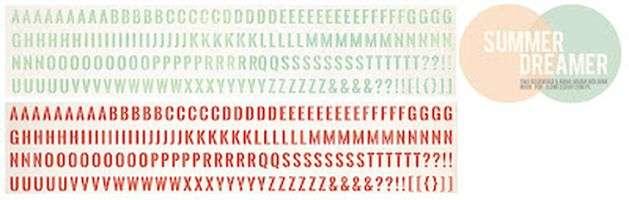 Kartonová abeceda ke kolekci Summer Dreamer 2012, vyšší gramáže 250 gsm ILS