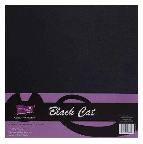 Sada čtvrtek ColorCore na scrapbooking - Černá 30,5 x 30,5 cm - 4 kusy! ColorCore Cardstock