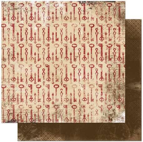 scrapbooková čtvrtka, scrapbookový papír značka BoBunny, cardmaking, scrapbooking