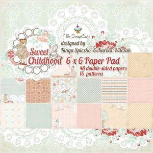 Sweet Childhood - 6x6 Paper pad - AKCE!!! - 8 designů oboustranných papírů
