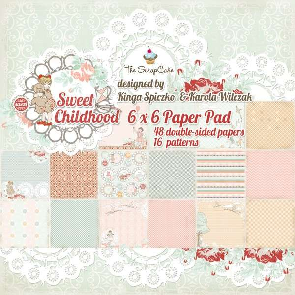 Sweet Childhood 6x6 Paper pad The ScrapCake