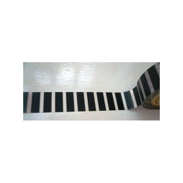 monochrome piano černobílý pruh washi páska washi páska, na scrapbooking, jako dekorace