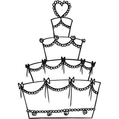 Aladine Dřevěné razítko Svatební dort