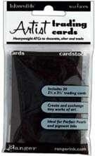 ATC - Artist Trading Cards karty Black - černé od Inkssentials, Ranger