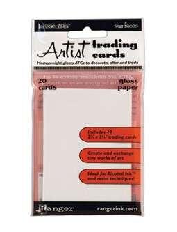 ATC - Artist Trading Cards karty bílé lesklé od Inkssentials, Ranger