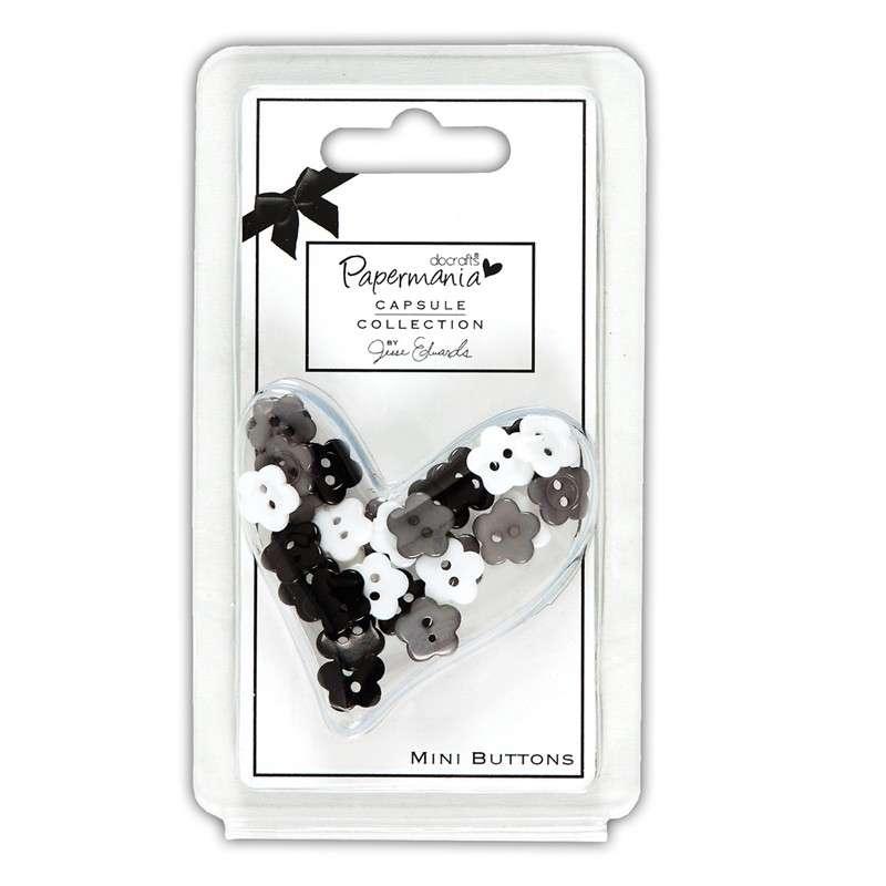Capsule knoflíky kytičky Bexley Black Papermania