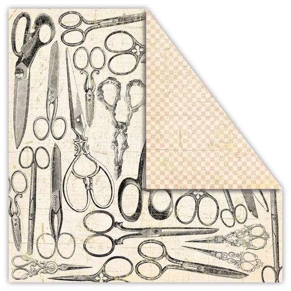 Čtvrtka na scrapbook z kolekce My Dear Watson - ALIBI vyšší gramáže 250 gsm UHK Gallery