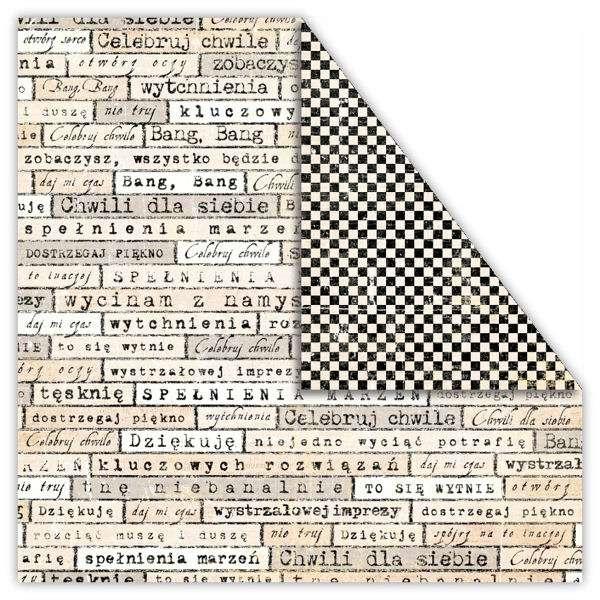 Čtvrtka na scrapbook z kolekce My Dear Watson - SZACH&MAT/ checkmat vyšší gramáže 250 gsm UHK Gallery