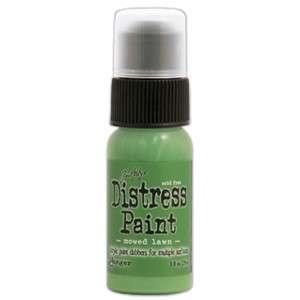 Dabber Distress paint Mowed Lawn - Akrylová barva v lahvičce s aplikátorem od Ranger
