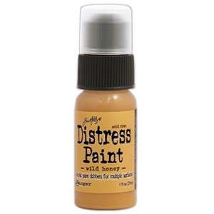 Dabber Distress Paint Wild Honey - Akrylová barva v lahvičce s aplikátorem od Ranger