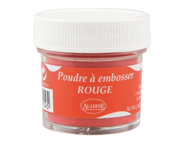 Embosovací prášek, 30 ml, červený lesklý Aladine