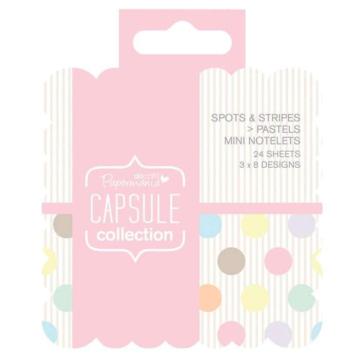 Mini čtvercové lístky na poznámky (24ks) Capsule Pastels Design Objectives Capsule