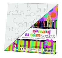 Namaluj si sám puzzle! Puzzle čtverec Efko-karton
