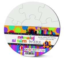 Namaluj si sám puzzle! Puzzle kruh Efko-karton