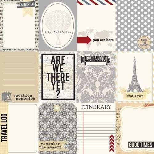 Oboustranná scrapbooková čtvrtka z kolekce Far Away - Notecards Teresa Collins