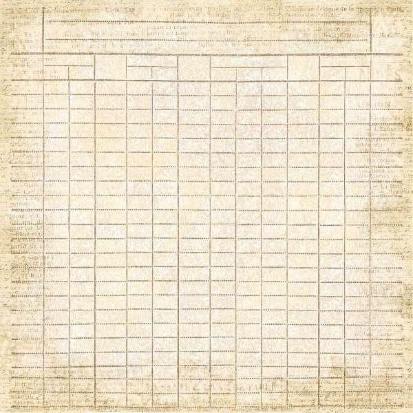 Scrapbookový papír Le Journal - Recipe, čtvrtka vyšší gramáže 190 gsm UHK Gallery