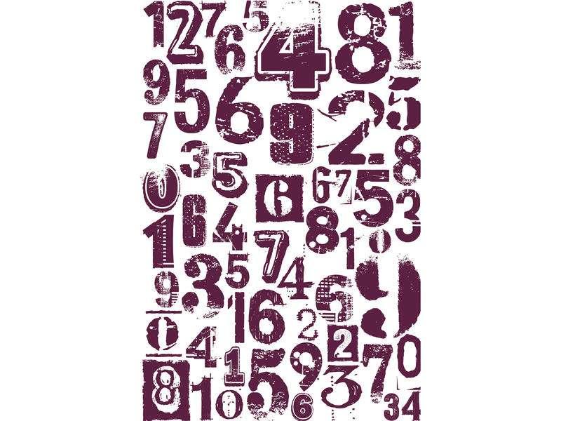 STAMPO MAXI 10 x 15, cifry od Aladine, razítko na pěnové hmotě určeno na scrapbooking a cardmakint