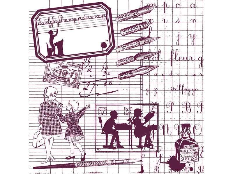 STAMPO MAXI 12x12, škola od Aladine, razítko na pěnové hmotě určeno na scrapbooking a cardmakint