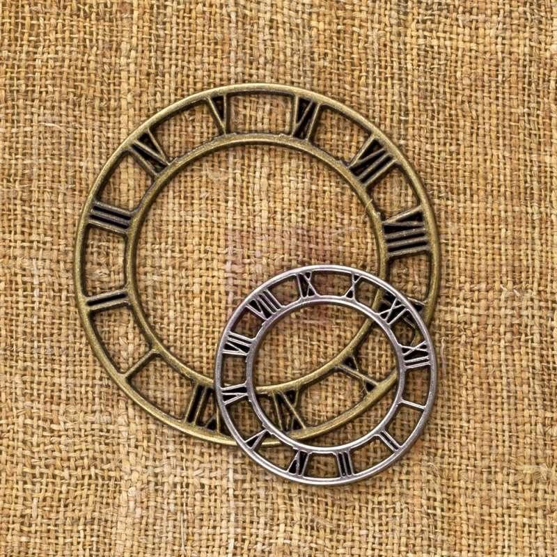 Kovové ozdoby na scrapbooking Vintage Mechanism - Vintage Clock Face Small Prima Marketing