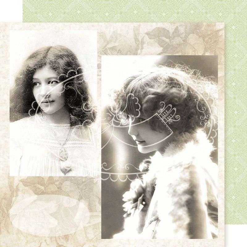 Vintage obrázek na scrapbookovém papíře - Vintage 14 Galeria Papieru