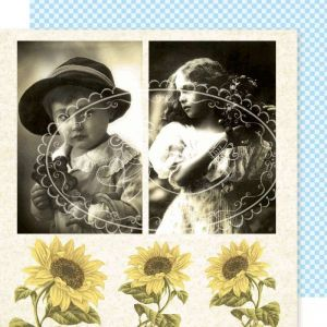 Vintage obrázek na scrapbookovém papíře - Vintage 9 Galeria Papieru