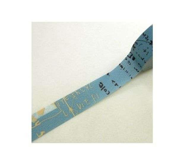 washi páska, na scrapbooking, jako dekorace - Graffiti blue A Kamoi Kakoshi Co.