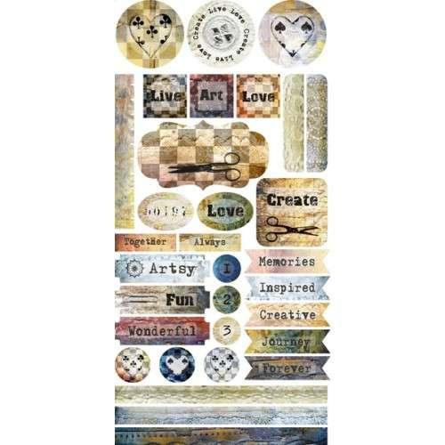 Wonderland - Samolepky na scrapbooking od 7 Dots Studio vhodná i pro cardmaking