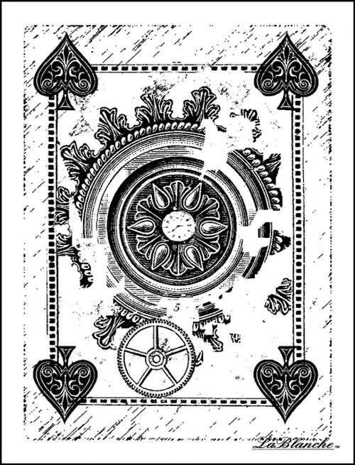 Card Back - Razítko na bílé pěně, výrobce LaBlanche, scrapbooking