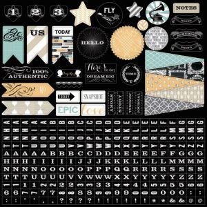 Memorabilia: 12x12 Sticker Sheet