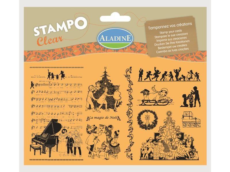 Novinka 2013! Sada gelových razítek od francozské firmy Aladine StampoClear, Viktoriánské Vánoce