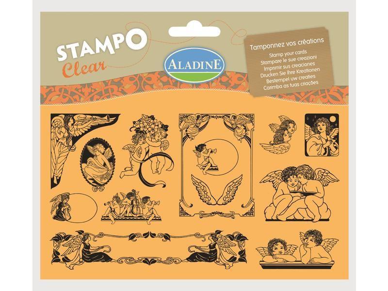 Novinka 2013! Sada gelových razítek od francozské firmy Aladine StampoClear, andílci