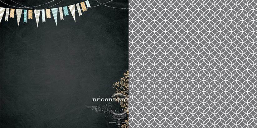 Oboustranná scrapbooková čtvrtka Memorabilia, Vhodné na journaling, Project Life, k dozdobení vašich scrapbookových stránek a alb. Teresa Collins