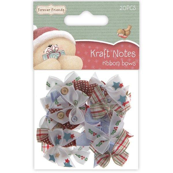Sada Mašličky (20ks) - Christmas Kraft Notes na scrapbooking, cardmaking, zdobení na bloky, přání, alba a stránky Design Objectives
