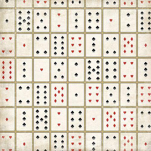 Scrapbooková čtvrtka Card Games CARTA BELLA
