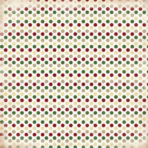 Scrapbooková čtvrtka Christmas Dots CARTA BELLA