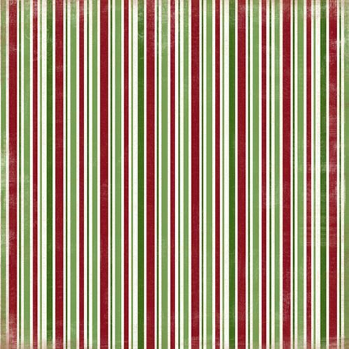 Scrapbooková čtvrtka Christmas Stripes CARTA BELLA