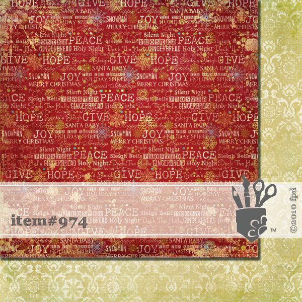Scrapbooková čtvrtka Holiday Sentiments Fancy Pants