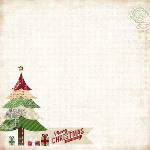 Scrapbooková čtvrtka Merry Christmas CARTA BELLA